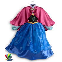 Disfraz Vestido Anna Frozen Original Disney Store