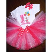Tutu Disfraz Hello Kitty Vestido Bebé Niña Personalizado