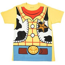 Shirt T-toy Story Woody Vaquero Traje Plátano Amarillo Adult
