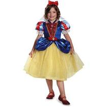 Disfraz Disney Blanca Nieves Niña Vestido Talla 3 A 4 Años