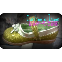 Zapatos Campanita Rapunzel Blanca Nieves Aurora #12 A 21.5