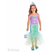 Disfraz Niña Disney Store Ariel Sirenita Talla 2 A 3 Años