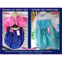 Vestido Ana & Elsa Frozen Bebe Disfraz Excelente Calidad