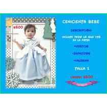 Vestido Cenicienta Bebe Princesa Disfraz Excelente Calidad
