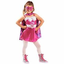 Disfraz Barbie Power Princess Super Princesa 4/6 Años Import