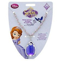 Collar Amuleto C/luz P/ Disfraz Princesita Sofia Original
