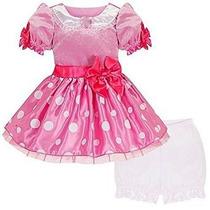 Disney Store Deluxe Minnie Mouse Del Traje De Vestido Rosa