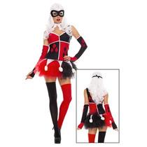 Disfraz De Arlequin, Harley Quinn Para Damas, Envio Gratis
