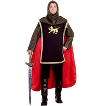 Disfraz De Caballero Medieval, Guerrero Para Adultos