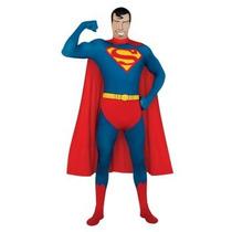 Disfraz De Superman, Segunda Piel, Bodysuit Para Adultos