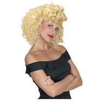 Peluca Rubia, Sandy, Grease, Retro, 50