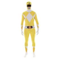 Disfraz De Power Ranger Amarillo Para Adultos, Envio Gratis