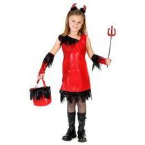 Oferta Unica! Disfraz De Diablo, Diablita Para Niñas Talla 8