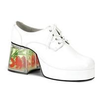 Zapatos Blancos Disco Con Pez Para Adultos, Envio Gratis