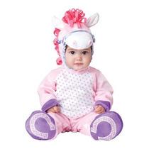 Disfraz Bebe Caballito Niña Halloween Caballo Pony Rosa