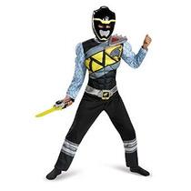 Negro Power Ranger Dino Charge Classic Costume Muscular Para