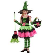 Disfraz Brujita Niña Spiderina Bruja Halloween