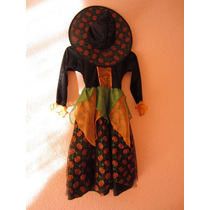 Disfraz De Bruja Para Niña 8-10 Años Seminuevo
