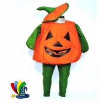 Disfraz Calabaza Halloween Niña Niño