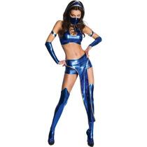 Disfraz De Kitana De Mortal Kombat Para Damas, Envio Gratis