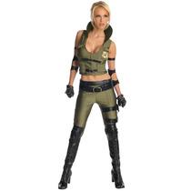 Disfraz De Sonya De Mortal Kombat Para Damas, Envio Gratis