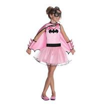 Disfraz De Batman, Batichica Rosa Para Niñas, Envio Gratis