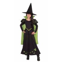 Disfraz Traje Infantil Niñas Mago De Oz Brujita Halloween