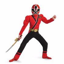 Disfraz Power Ranger Samurai 10/12 Años Original Entrega Inm