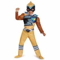 Disfraz De Power Ranger Dorado Dino Charge Para Niños