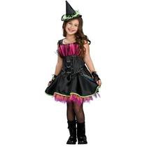 Oferta Unica! Disfraz De Bruja Para Niñas Talla 8-10