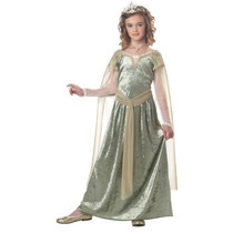 Disfraz Reina Historico, Renacimiento, Medieval Para Niñas