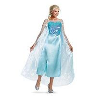 Disney Congelado Elsa Costume Deluxe De La Mujer Disfraz
