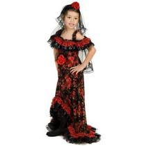 Disfraz De Maja Española Para Niñas, Envio Gratis