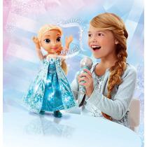 Nueva! Muneca Disney Frozen Elsa Interactiva Con Luces Canta