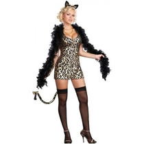 Sexy Disfraz Gatita Leopardo City Kitty Talla M
