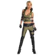 Disfraz Mortal Kombat Sonya Blade Mujer Adulto Halloween