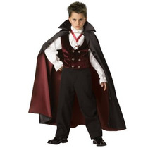Disfraz De Vampiro, Dracula, Miedo Para Niños, Envio Gratis