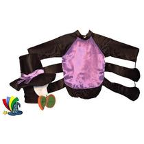 Disfraz Araña Con Sombrero Niño Niña Halloween Talla 4