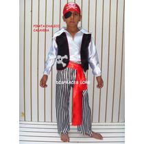 Disfraz Pirata Para Niño Talla 10 Años Padrisimo Regalo