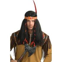 Peluca De Indigena, Indio, Apache Para Caballeros, Adultos