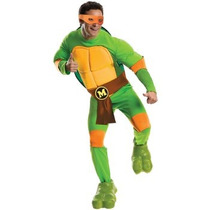 Disfraz De Tortuga Ninja Miguel Angel Para Adultos