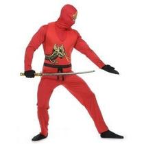 Disfraz De Ninja Rojo Para Adultos, Envio Gratis
