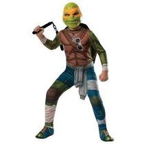 Disfraz De Tortuga Ninja, Miguel Angel Para Adultos