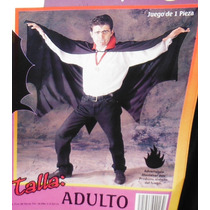 Disfraz Economico Capa Dracula Vampiro Adulto Halloween E4f