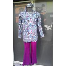 Disfraz Hippie Unisex Retro Epoca 70s Adulto