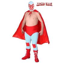 Disfraz De Nacho Libre, Luchador Para Adultos, Envio Gratis