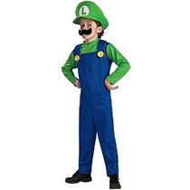 Super Mario Bros. - Luigi Niño Tamaño De Vestuario Medium 8-
