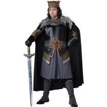 Disfraz De Rey Medieval Para Adultos, Hombres, Envio Gratis