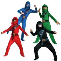 Disfraz Original Ninjago Rojo Azul Blanco Negro Bfn