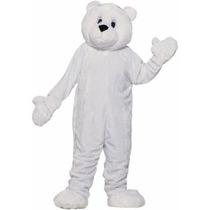 Disfraz / Botarga De Oso Polar Blanco Para Adultos
